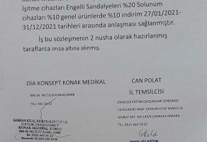 İzmir İl Temsilciliğimiz ile Dia Konsept Konak Medikal Arasında Yapılan Üyelerimize Özel Anlaşma
