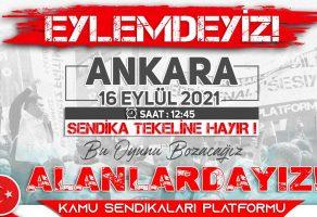 SENDİKA TEKELİNE HAYIR!!!!!