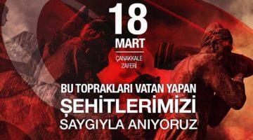 18 MART ÇANAKKALE ZAFERİMİZ KUTLU OLSUN!